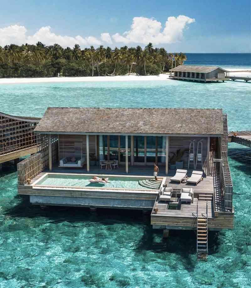 pool bean bags floating kudadoo maldives