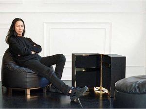 Alexander Wang Sits on Bean Bag Chairs
