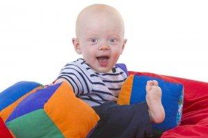 baby on a beanbag