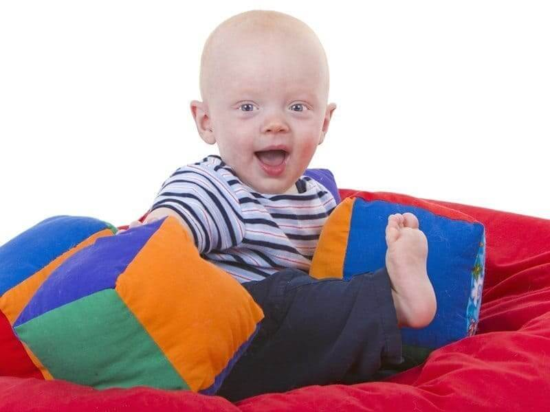 comfort research - baby on a beanbag