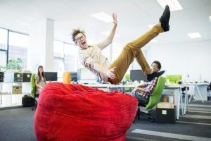luxury beanbag in office