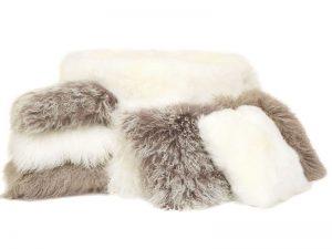 wool beanbags poufs ottomans