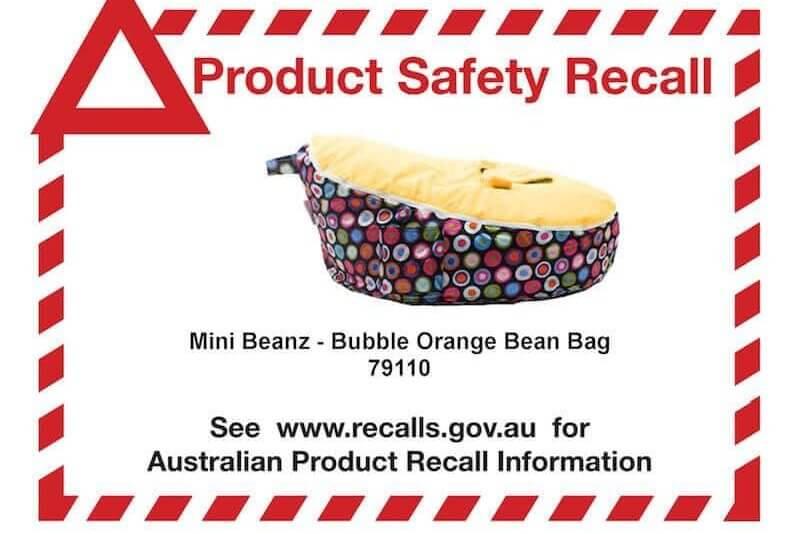 mini beanz baby bean bag recalled