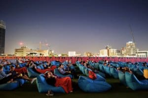rooftop movies beanbags