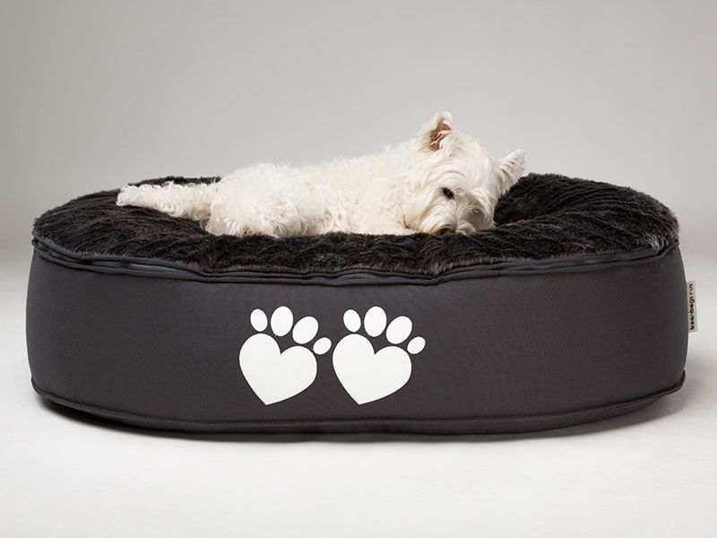 The Ultimate Dog Bed Large Dog Bed With Fur Top Bean