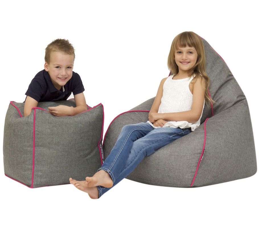 Teardrop Bean Bag & Pouf Set