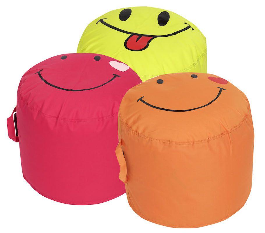 Smiley Emoji Poufs